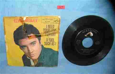 Elvis Presley vintage 45 RPM record