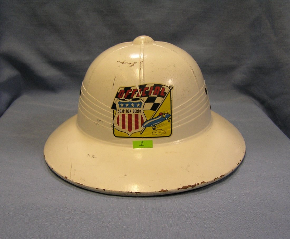 Official soap box derby helmet sponsored by Chevrolet
