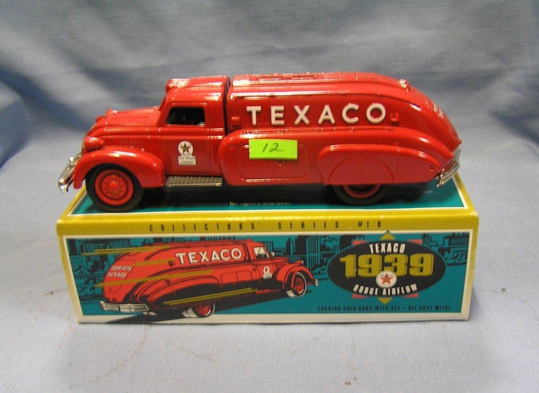 Vintage Texaco all cast metal truck bank