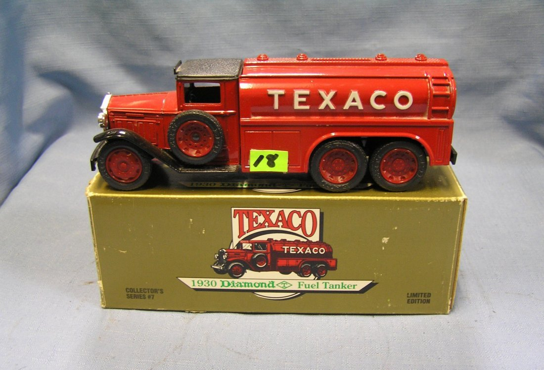 Vintage Texaco all cast metal delivery tanker truck