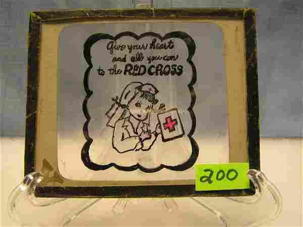 Antique colorized magic lantern glass slide