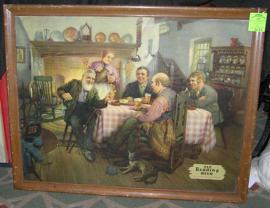 Antique Old Redding Beer advertising sign
