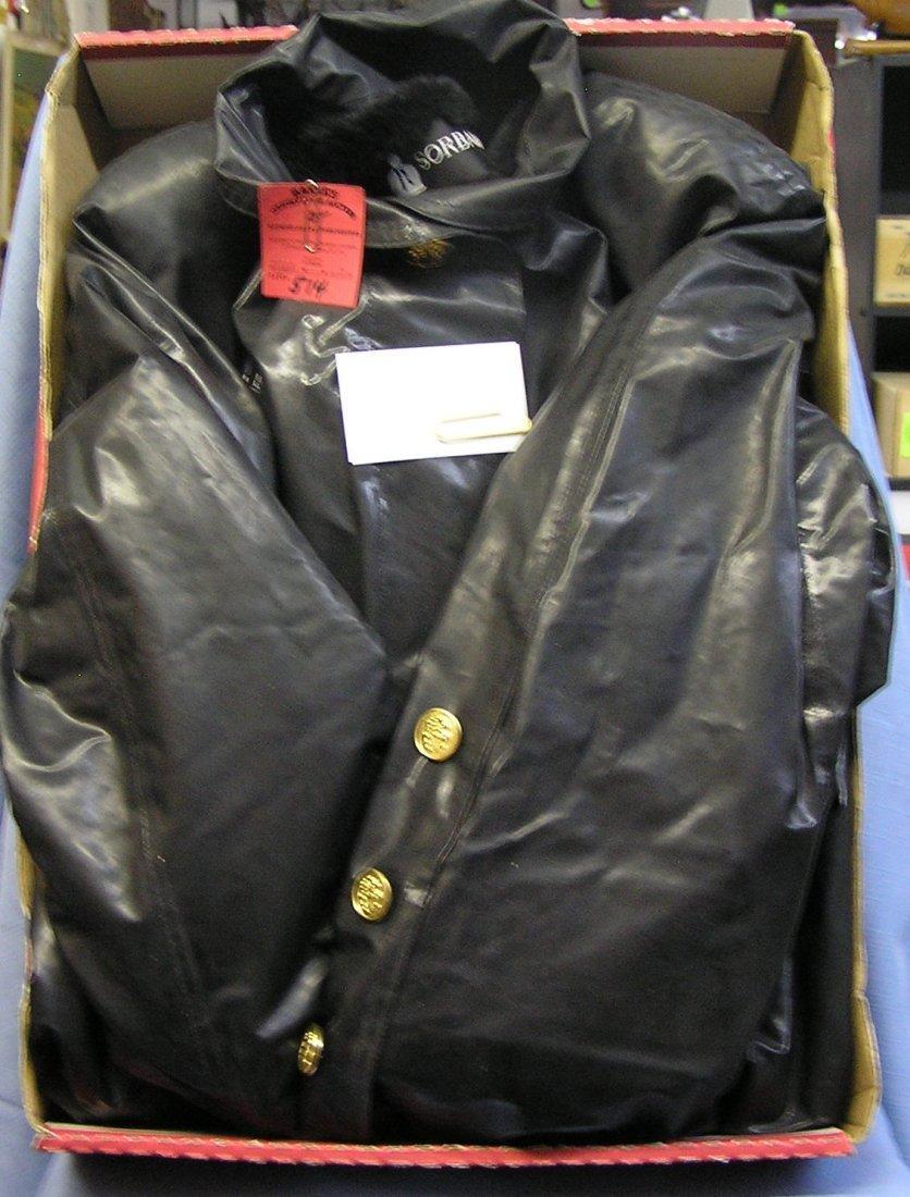 Vintage fur lined raincoat by Sorbara