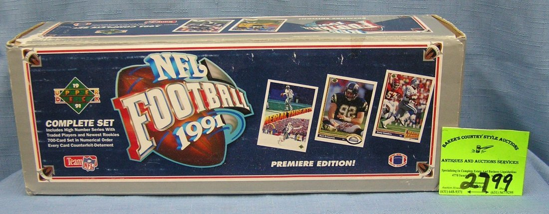 Box of  Upper Deck football cards