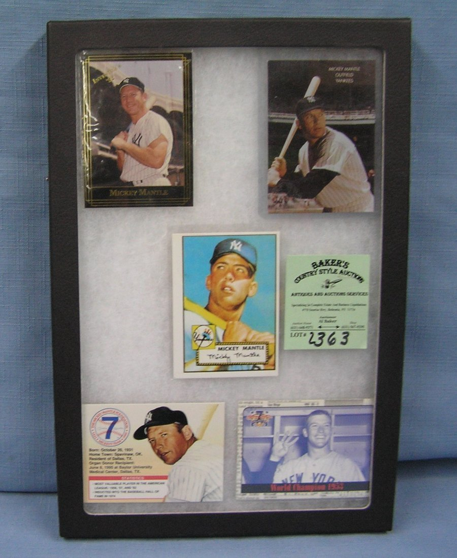 Collection of vintage style Mickey Mantle baseball