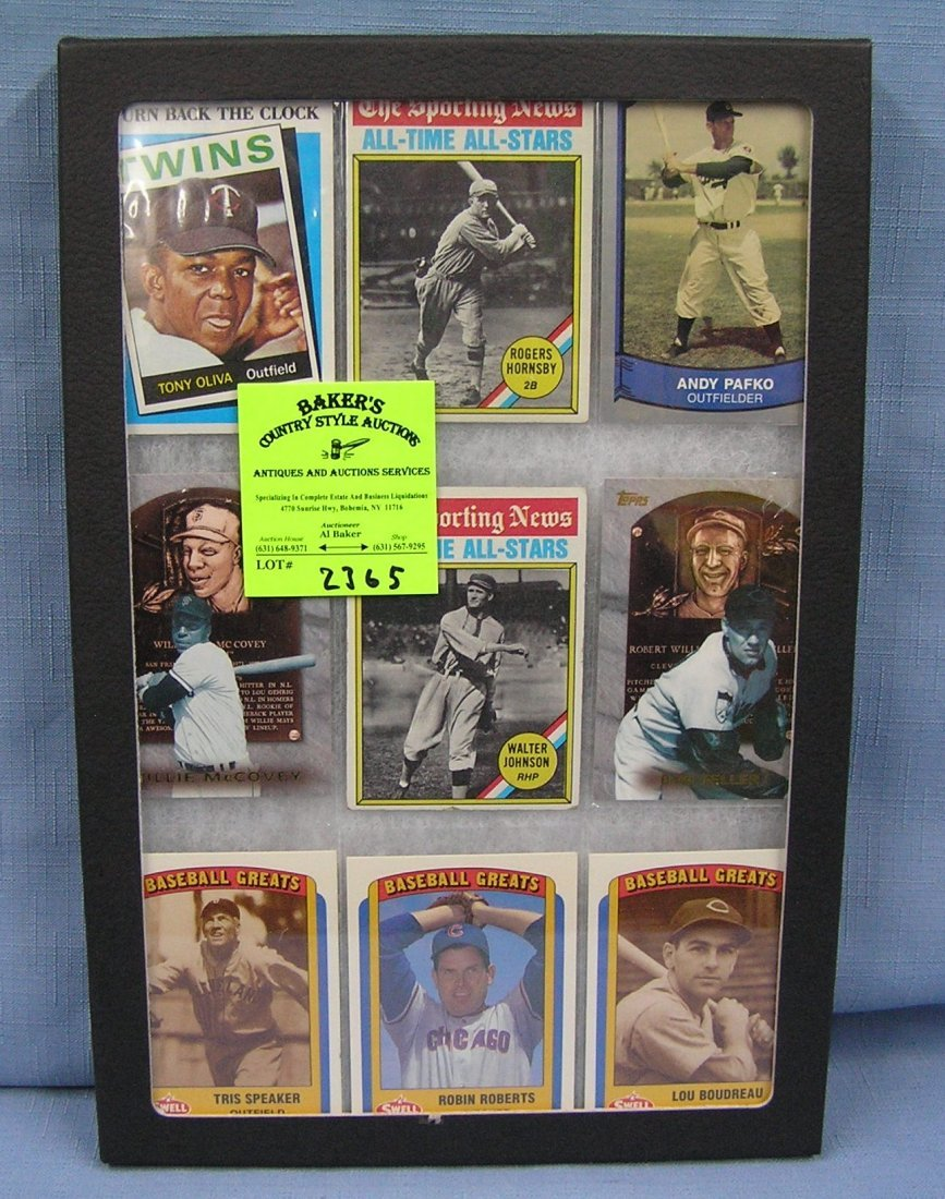 Collection of antique style baseball cards
