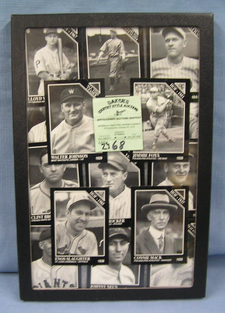 Collection of vintage style baseball cards