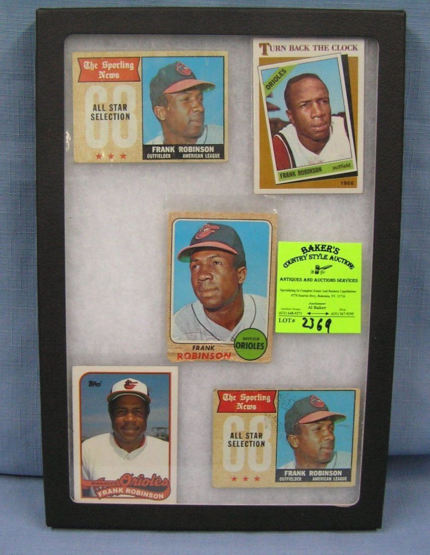 Collection of vintage Frank Robinson baseball cards