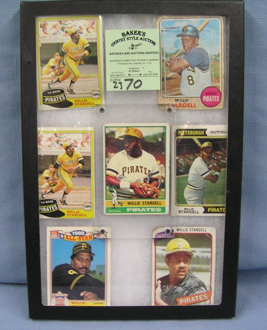 Collection of vintage Willie Stargell baseball cards