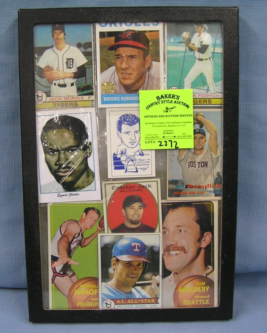 Collection of vintage sports cards