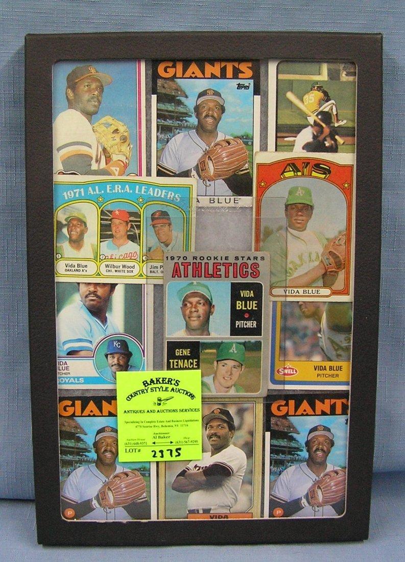 Collection of vintage Topps Vida Blue baseball cards
