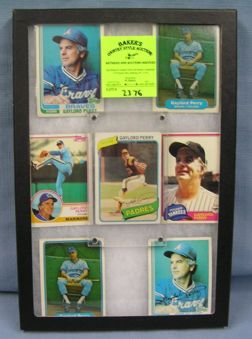 Collection of vintage Topps Gaylord Perry baseball