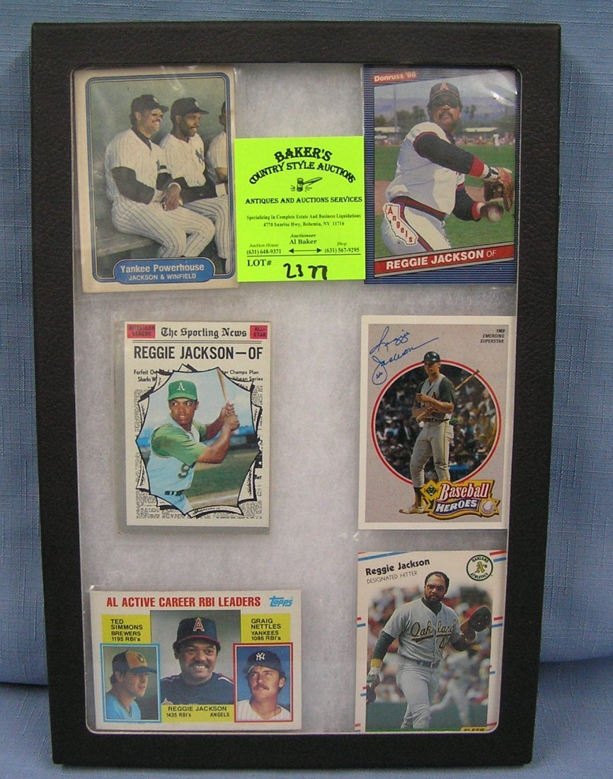 Collection of vintage Reggie Jackson baseball cards