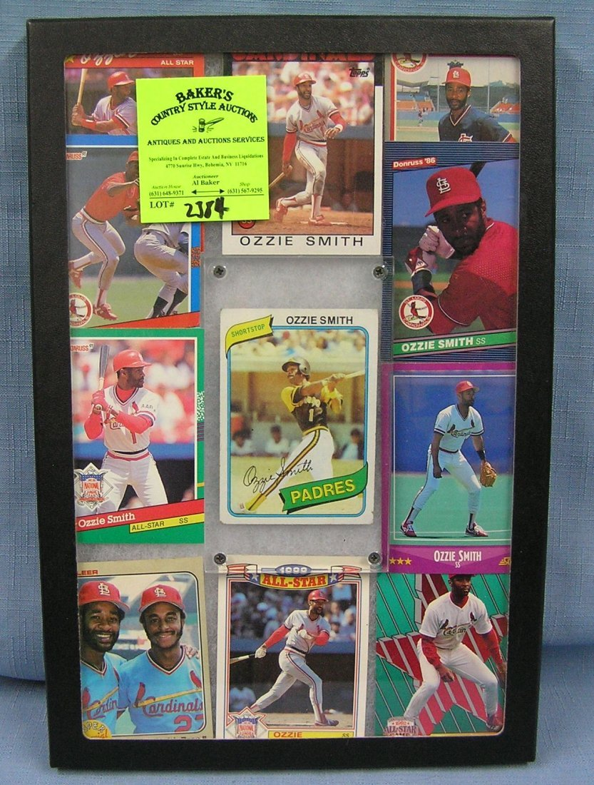 Collection of vintage Ozzie Smith baseball cards