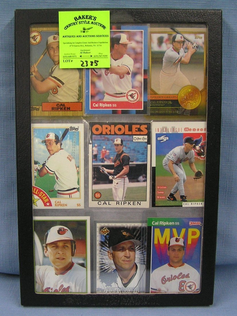Collection of vintage Cal Ripken baseball cards