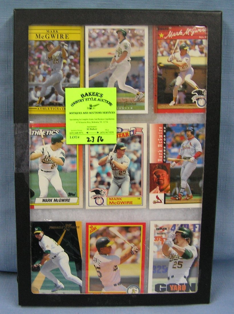Collection of vintage Mark McGwire Baseball cards
