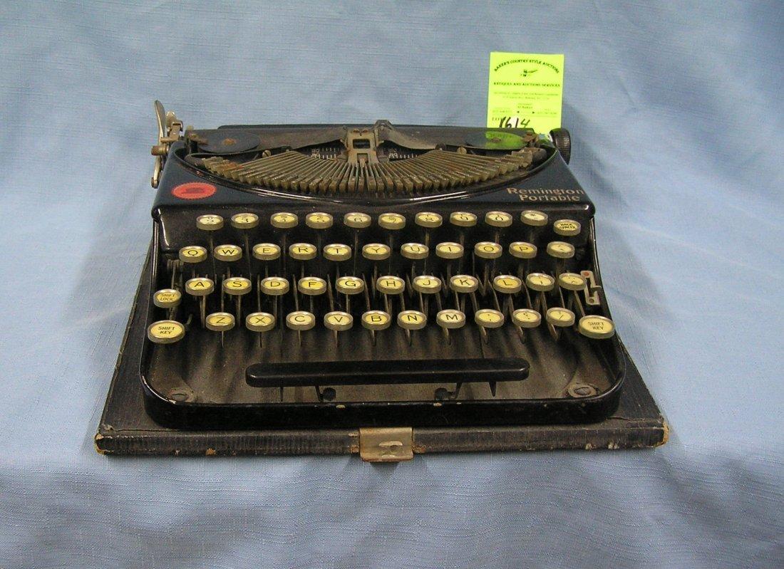 Antique Remington portable typewriter