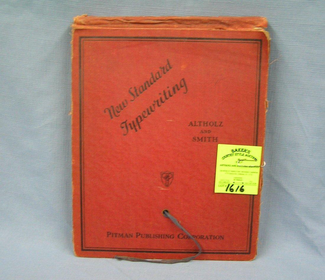 Antique New Standard Typewriting book circa