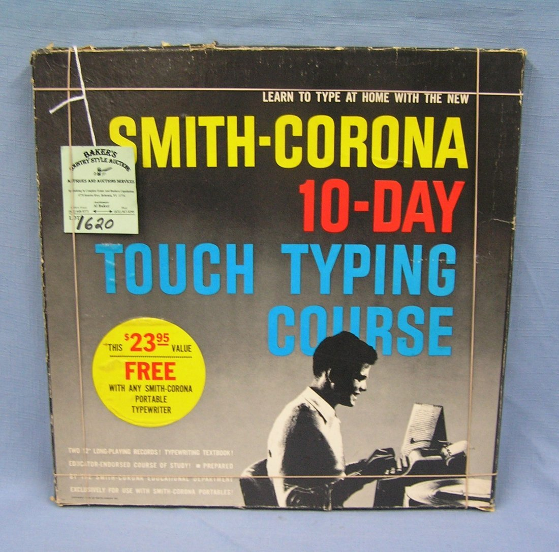 Vintage Smith Corona  day touch typing course kit with