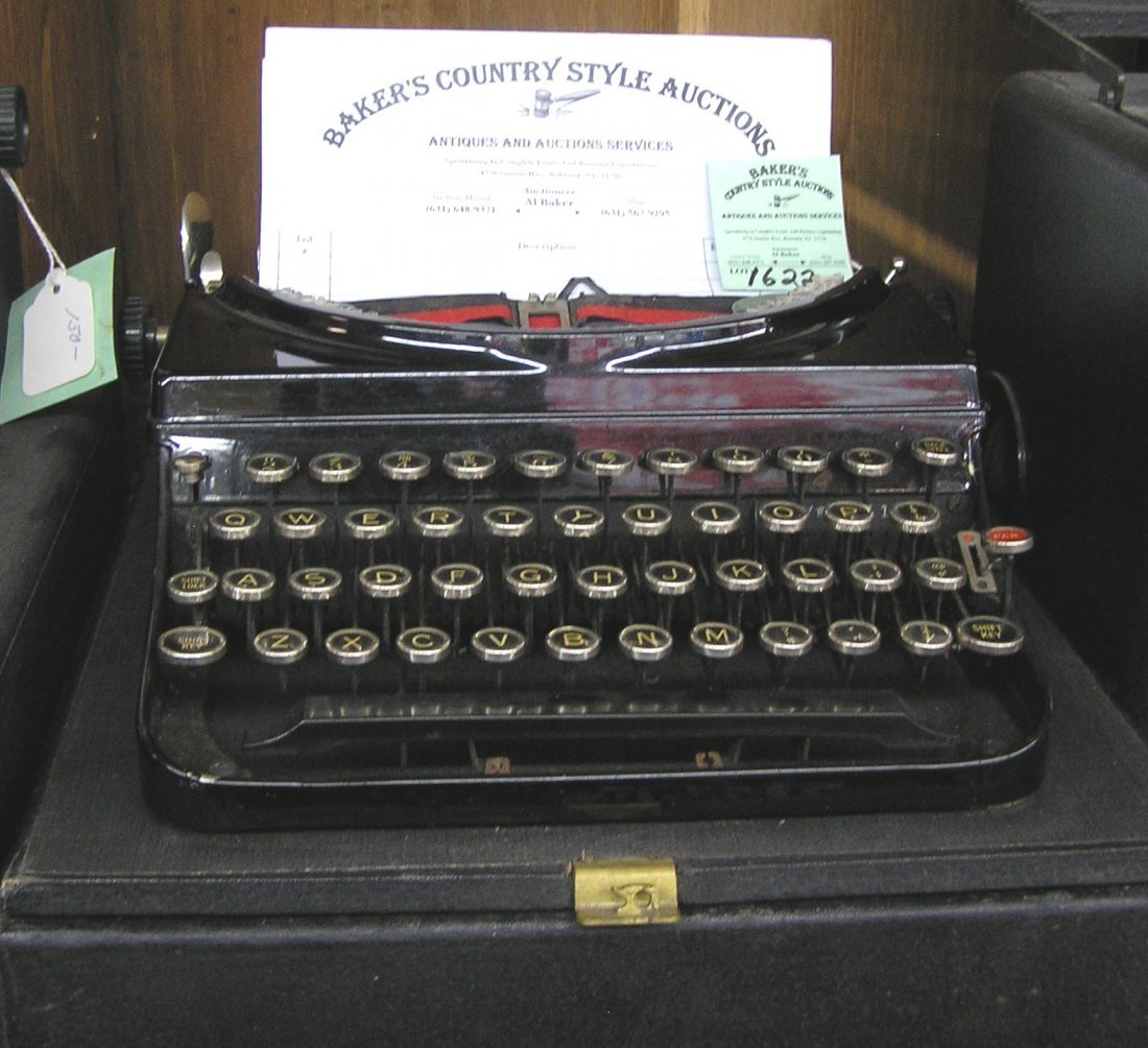 Antique Remington model number five typewriter with