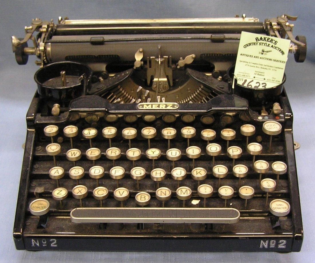 Antique Merz typewriter