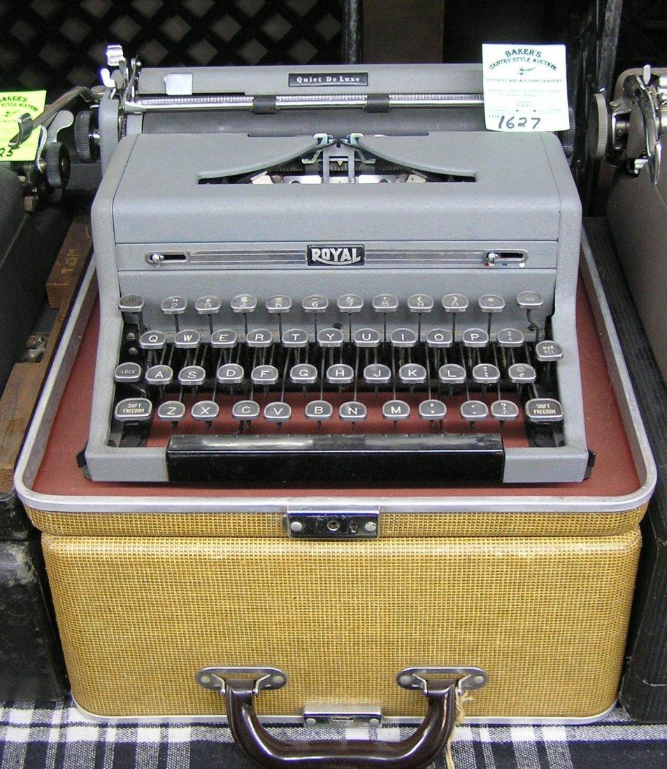 Vintage Royal typewriter with original case