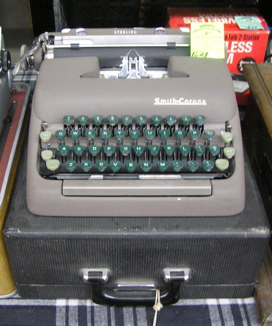Vintage Smith Corona typewriter with original case