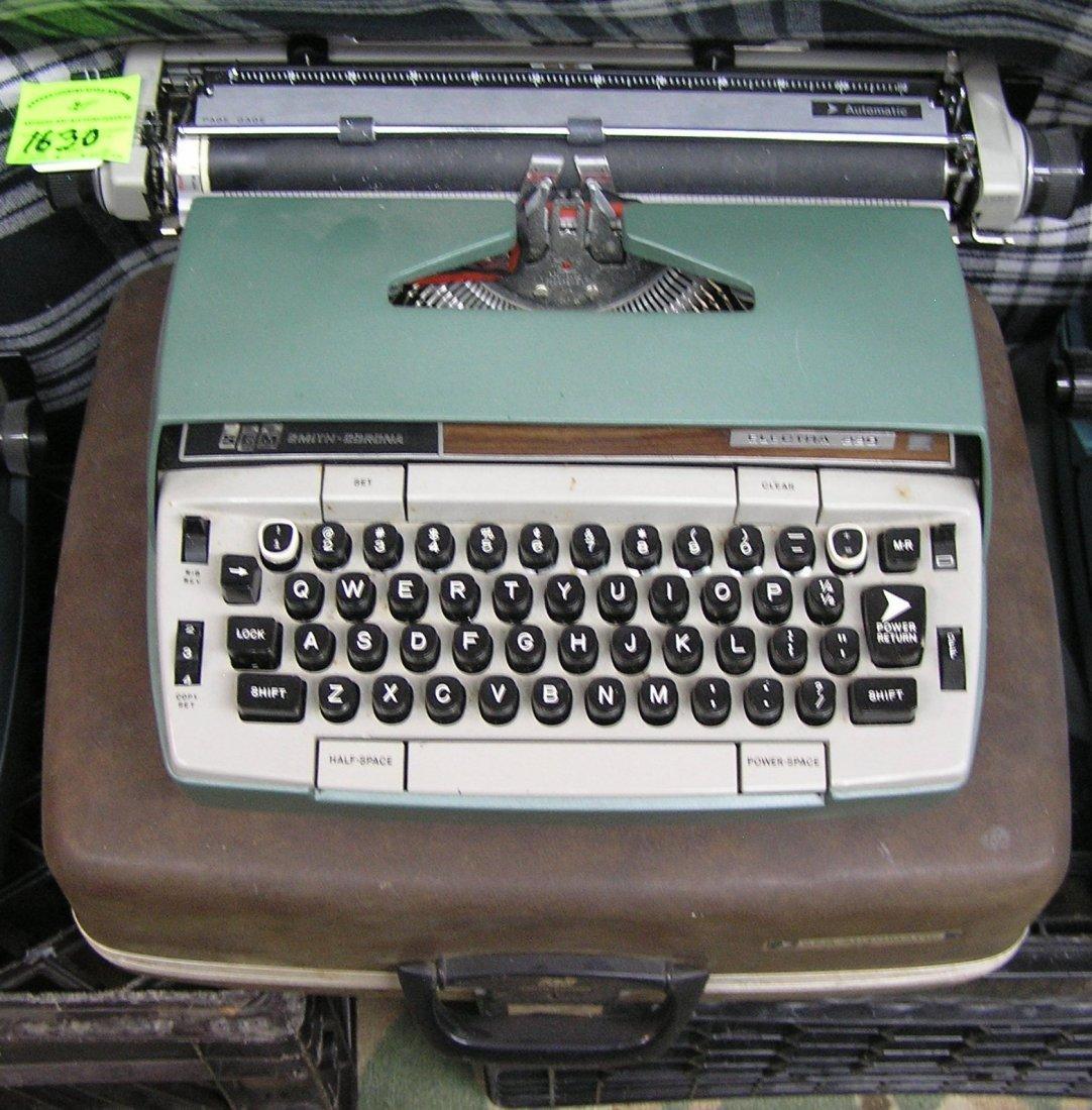 Vintage Smith Corona Electra  typewriter with original