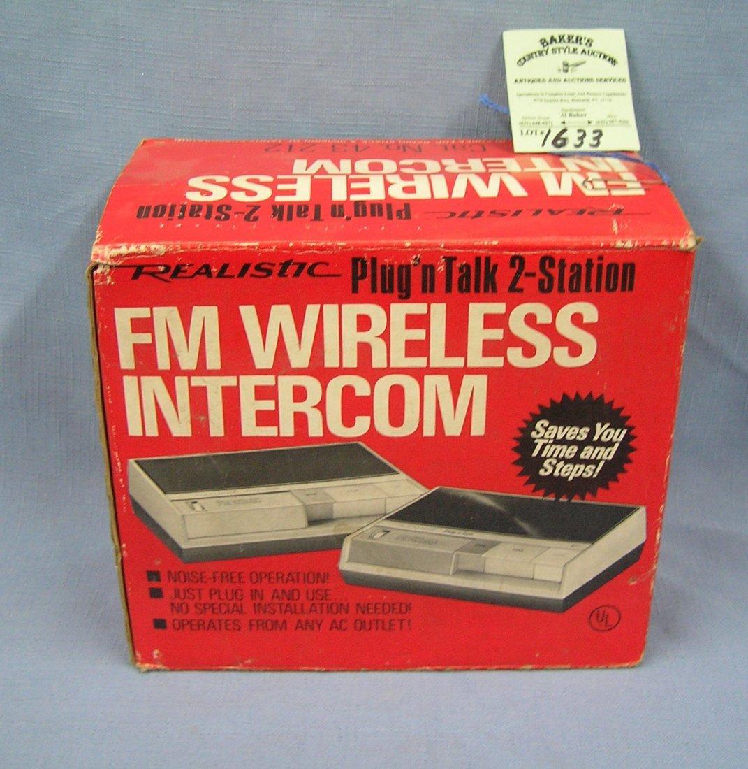 Vintage FM wireless intercom system with original box