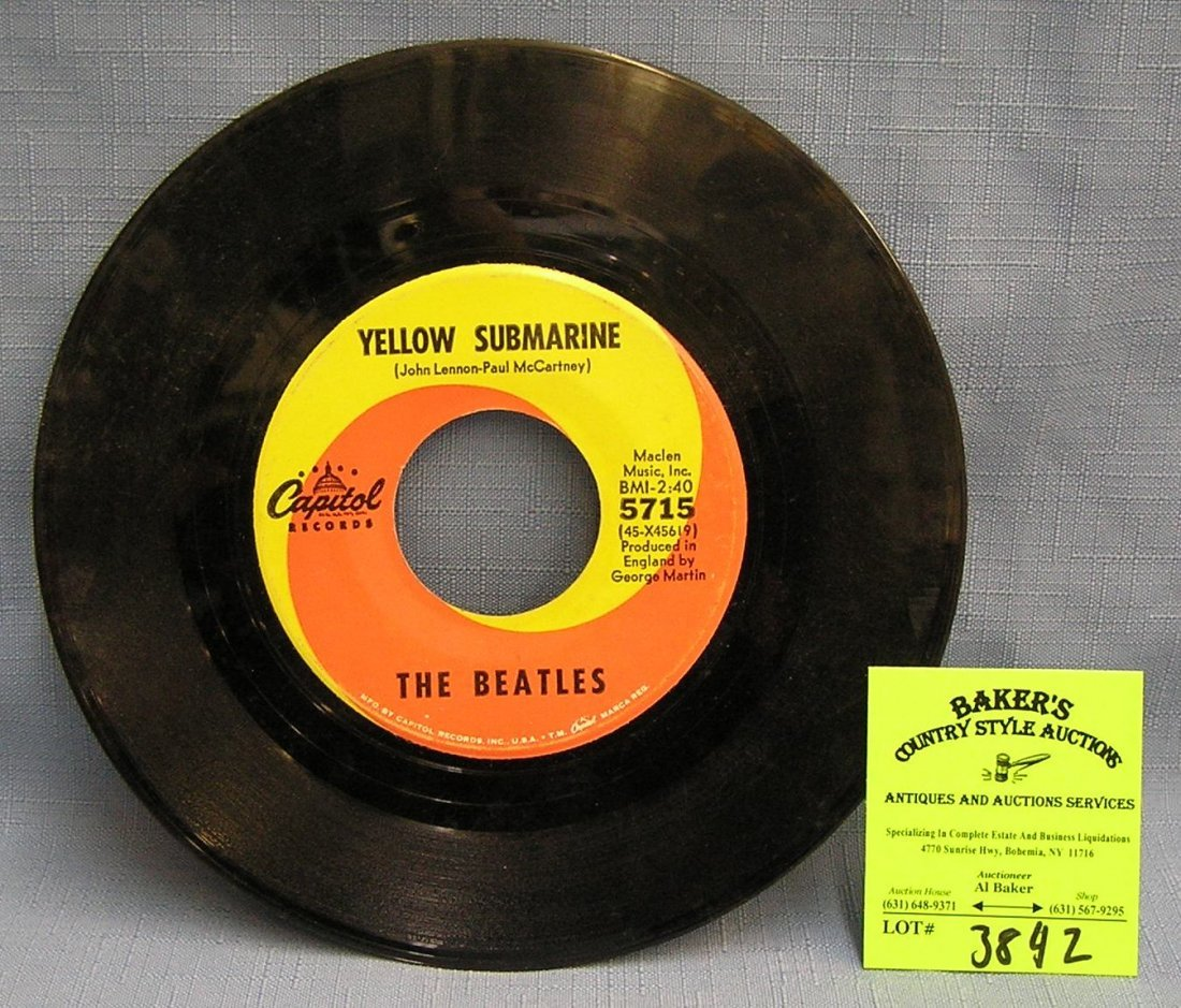 Vintage Beatles record album by Capital Records