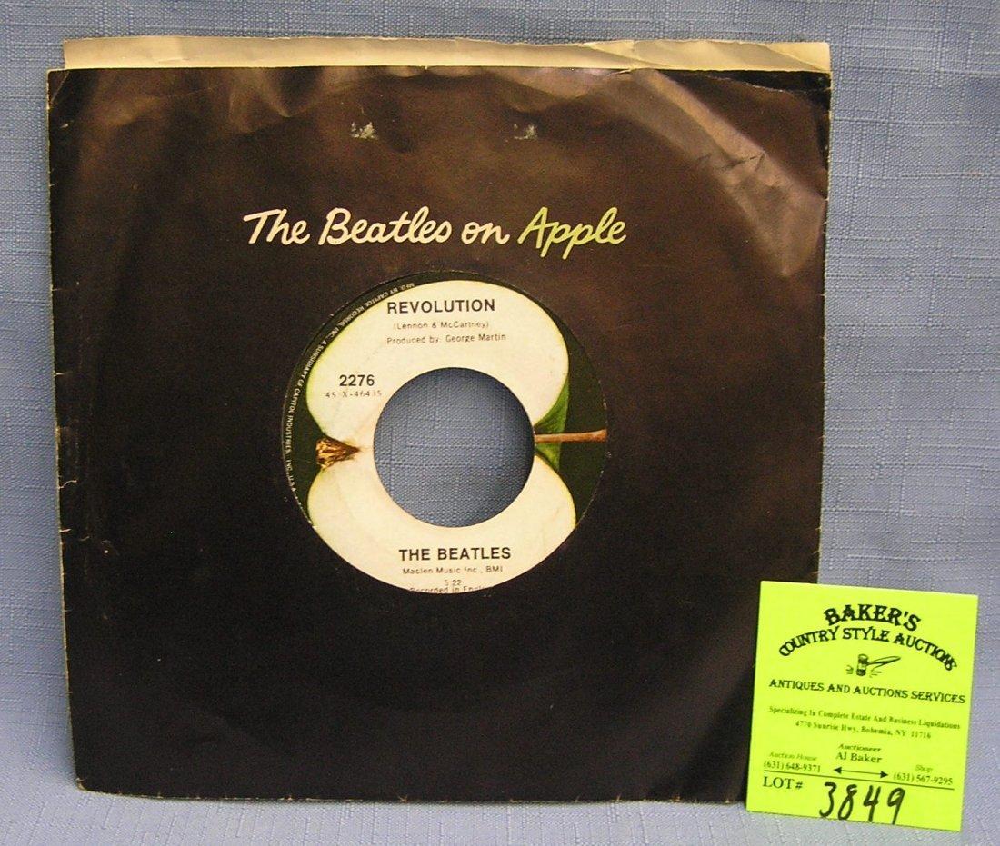 Vintage Beatles record album by Apple Records