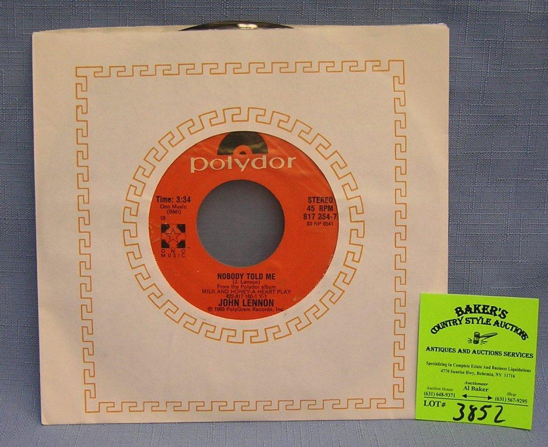 Vintage John Lennon record album by Polydor