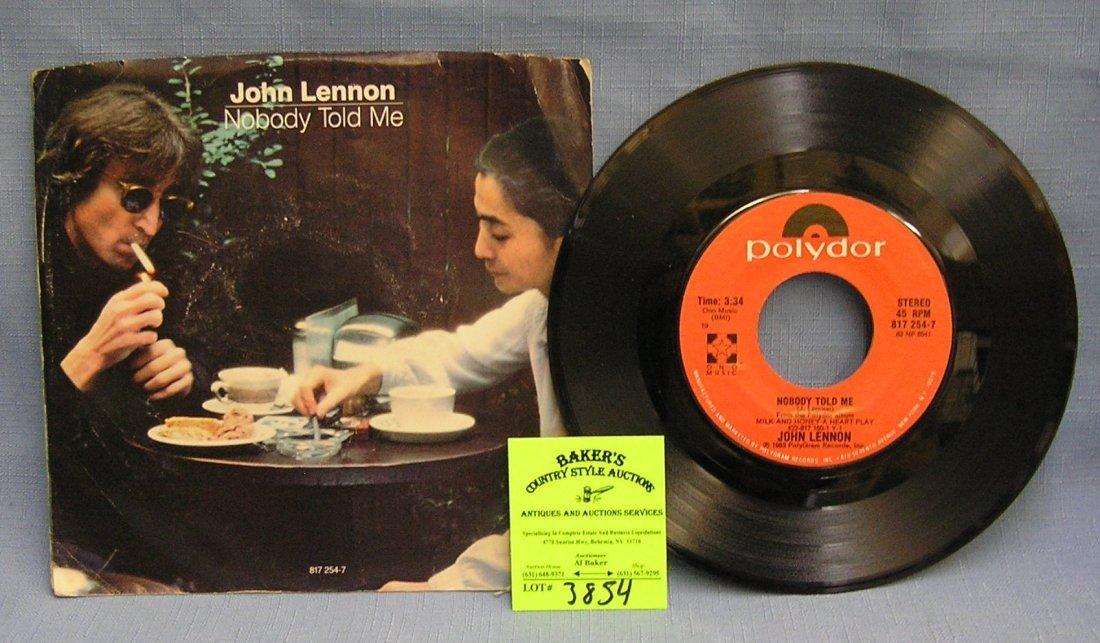 Vintage John Lennon and Yoko Ono record album by