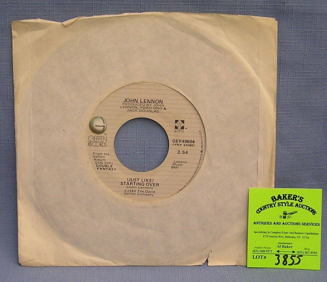 Vintage John Lennon and Yoko Ono record album on Geffen