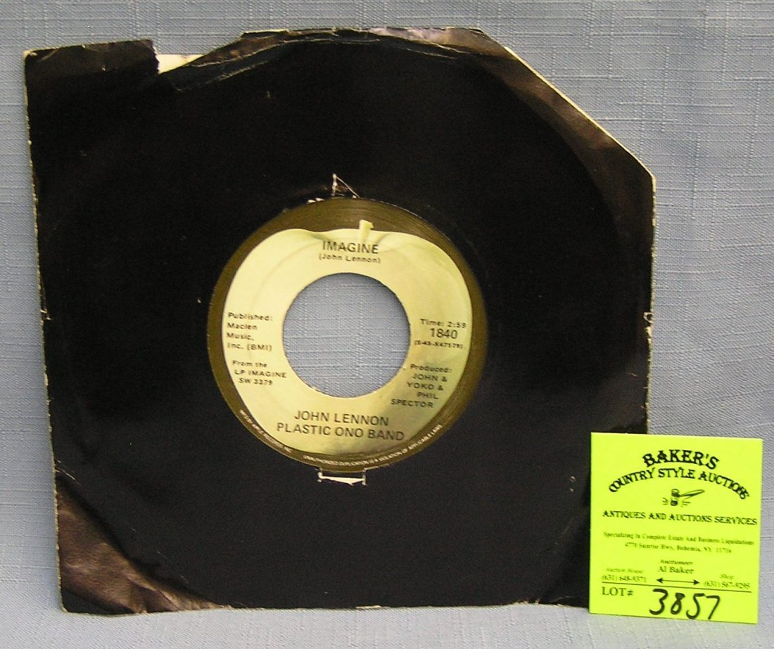 Vintage John Lennon and the Plastic Ono Band record