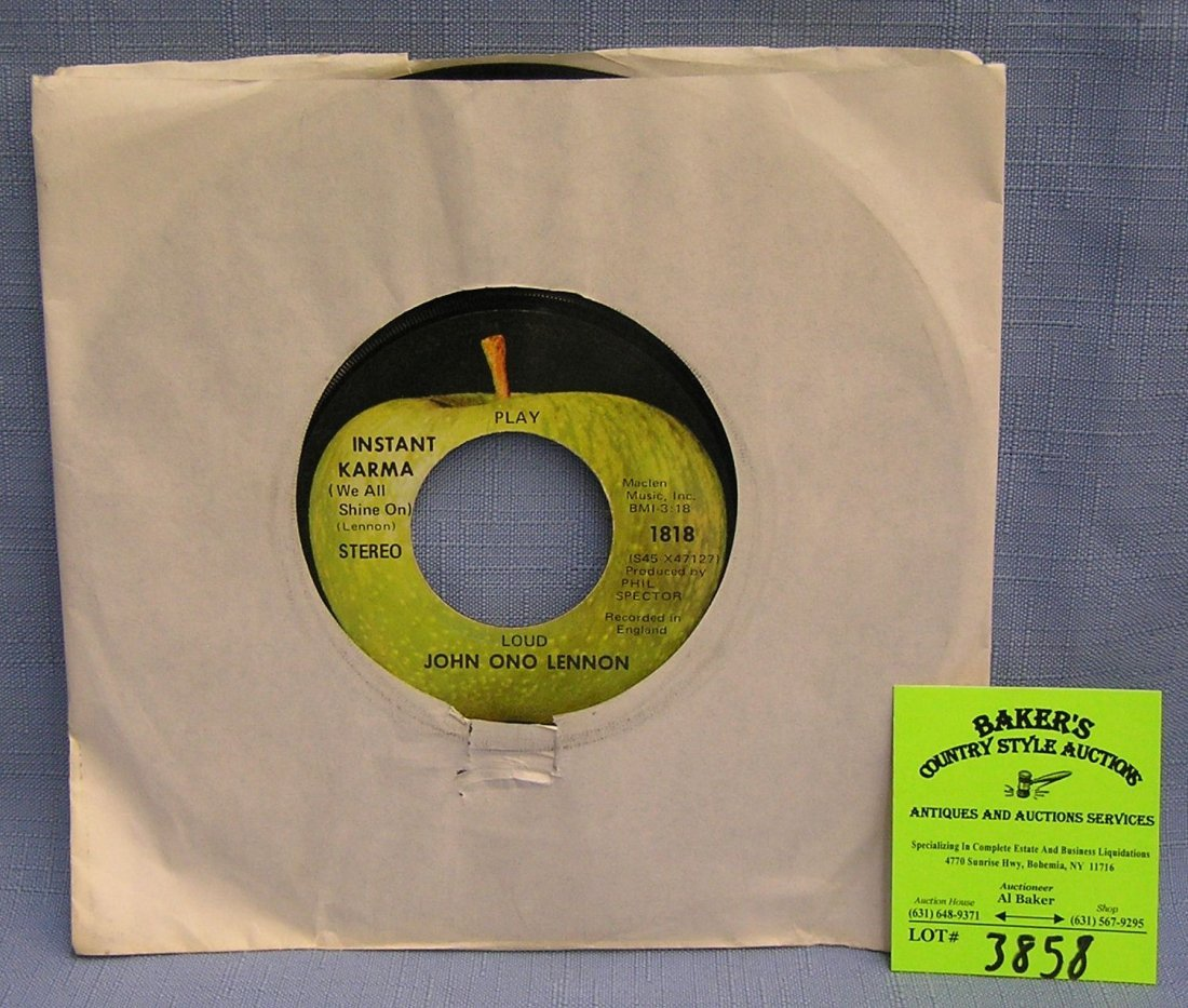 Vintage John and Yoko Ono record album on Apple Records