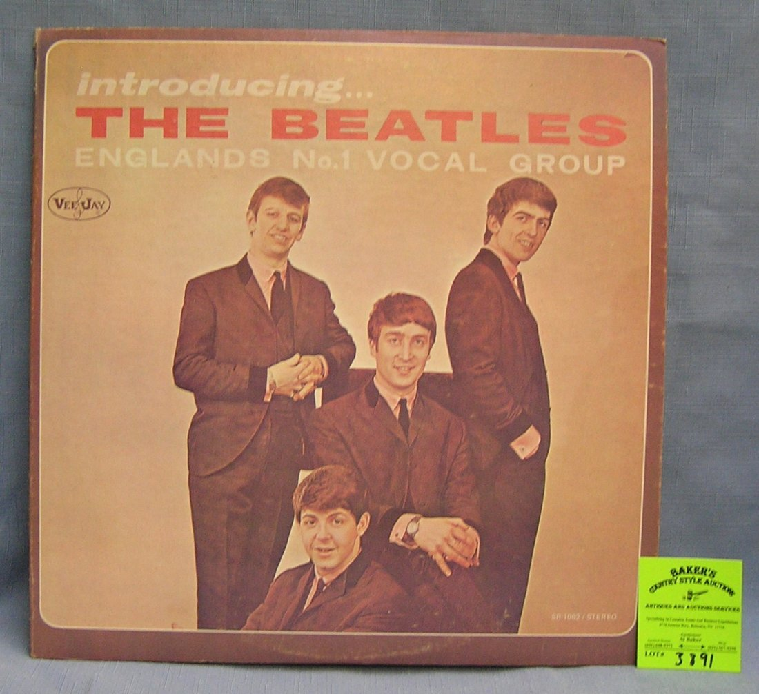 Introducing the Beatles vintage record album