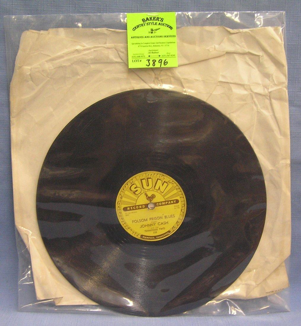 Early Johnny Cash Folsum Prison Blues on Sun Records
