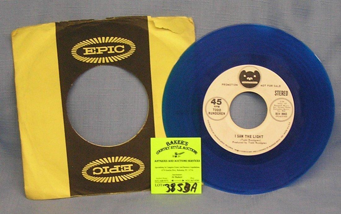 Vintage Todd Rundgren 45rpm record