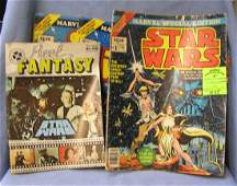Shoe box full of vintage Star Wars comic books and