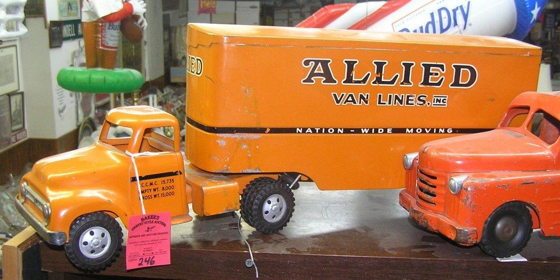 Early Tonka Allied Van Lines tractor trailer truck