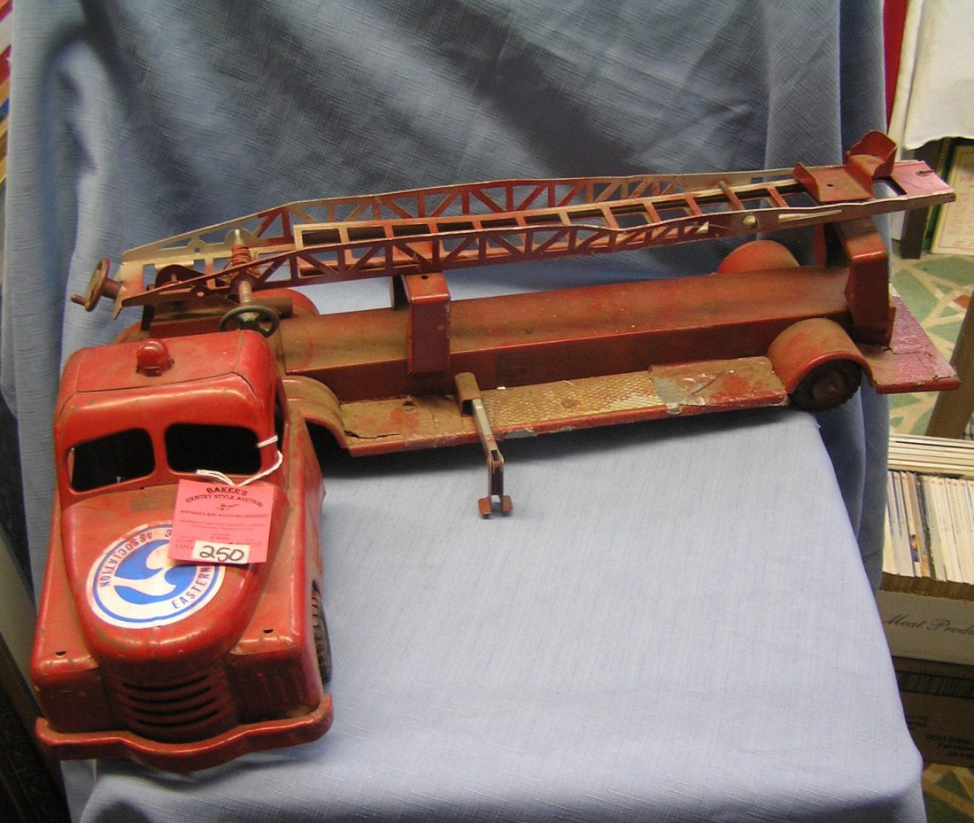Large Structo Toys fire department ladder truck