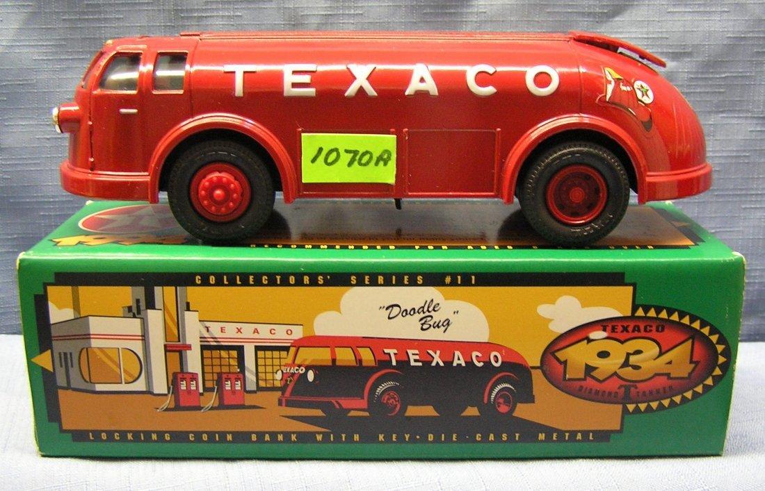 Vintage all cast metal Texaco tanker truck