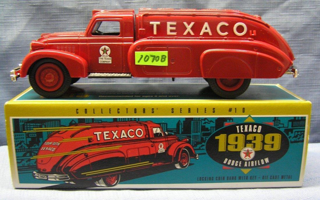 Vintage all cast metal Texaco 1939 Dodge airflow