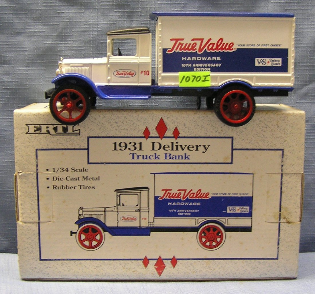 Vintage all cast metal True Value advertising delivery