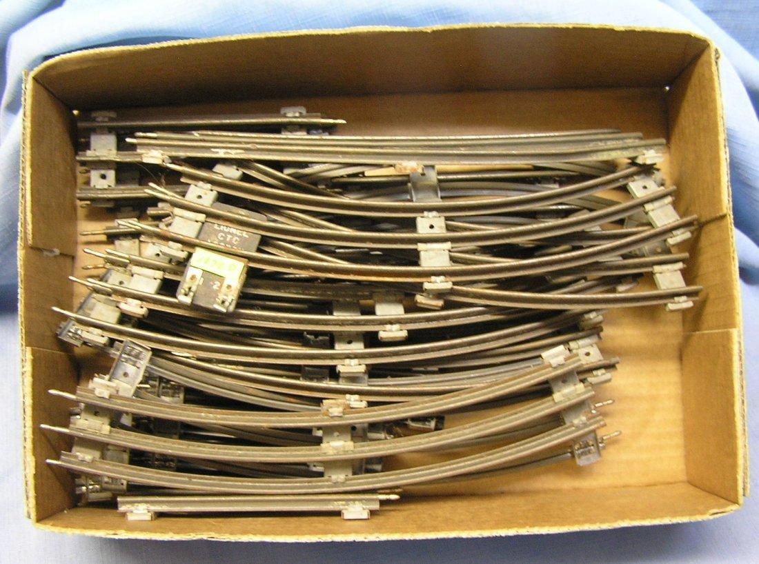 Group of vintage Lionel O-27 train track