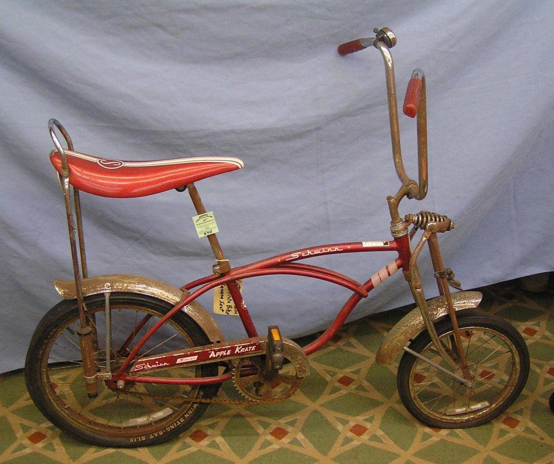 Vintage Schwinn stingray red apple crate bike