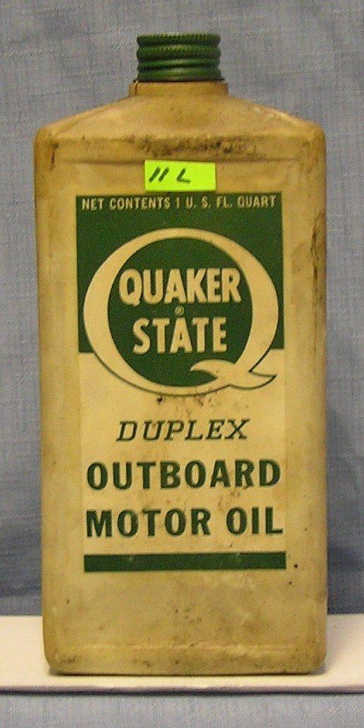 Vintage Quaker State Duplex outboard motor oil