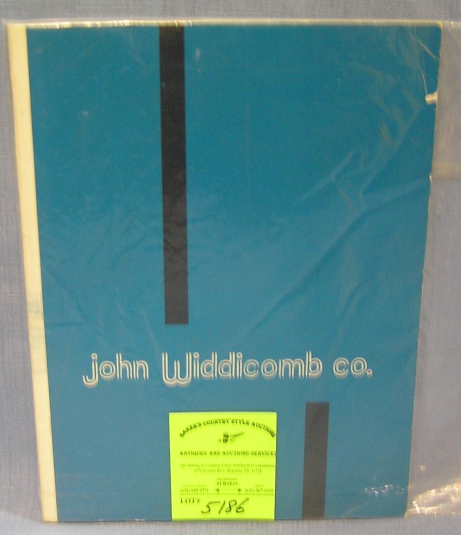 Vintage John Widdicomb company furniture sales catalog