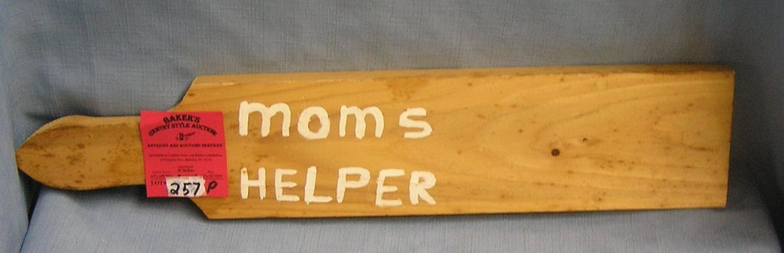 Mom's helper child's corpereal punishment paddle